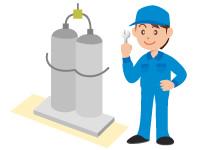 容器交換時など、供給設備点検